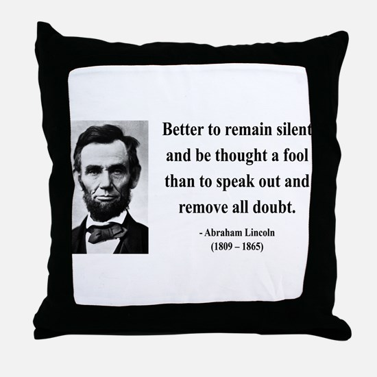 Abraham Lincoln 26 Throw Pillow