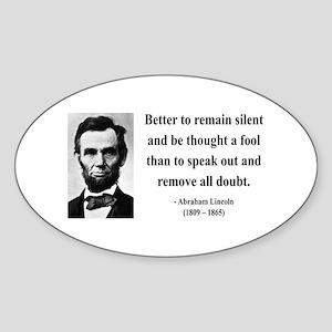 Abraham Lincoln 26 Oval Sticker