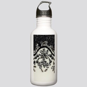 boho floral black rhin Stainless Water Bottle 1.0L