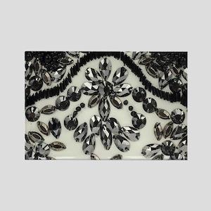 boho floral black rhinestone Magnets