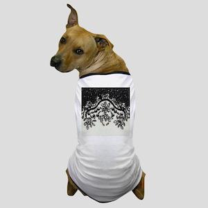 boho floral black rhinestone Dog T-Shirt