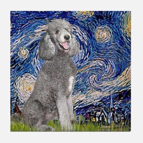 Cute Standard poodle Tile Coaster
