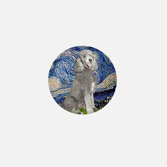 Funny Standard poodle Mini Button