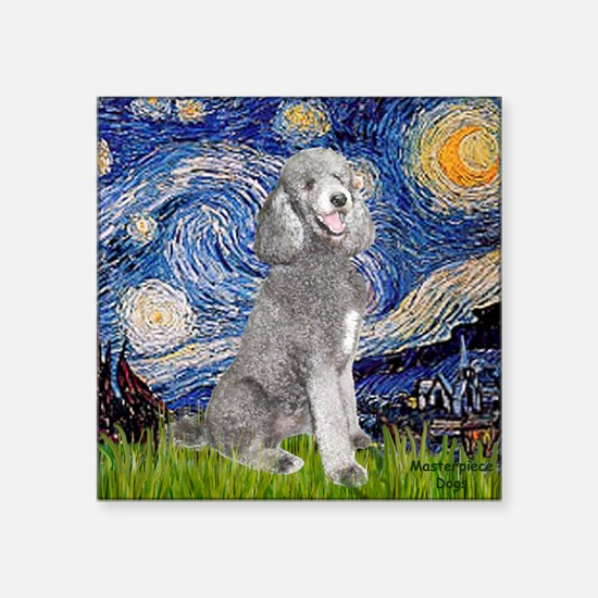 "Cute Dogs standard poodle Square Sticker 3"" x 3"""
