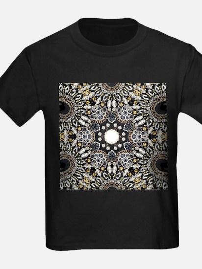 great gatsby black rhinestone T-Shirt