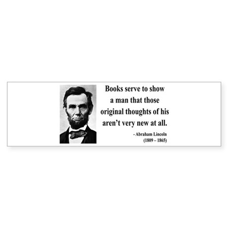 Abraham Lincoln 27 Bumper Sticker