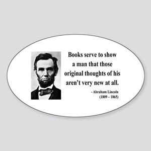 Abraham Lincoln 27 Oval Sticker