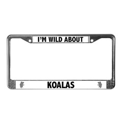 Wild About Koalas License Plate Frame