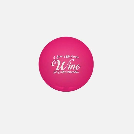 SATC Wine Pink Mini Button