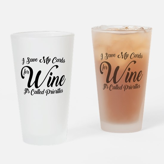 SATC Wine Pink Drinking Glass