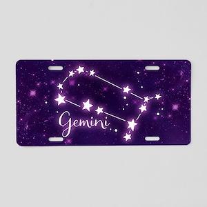 Gemini Zodiac Constellation Aluminum License Plate