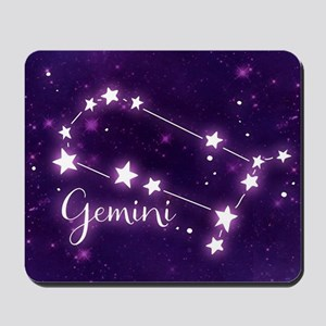 Gemini Zodiac Constellation Mousepad
