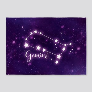 Gemini Zodiac Constellation 5'x7'Area Rug