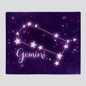 Gemini Zodiac Constellation Throw Blanket