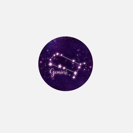 Gemini Zodiac Constellation Mini Button