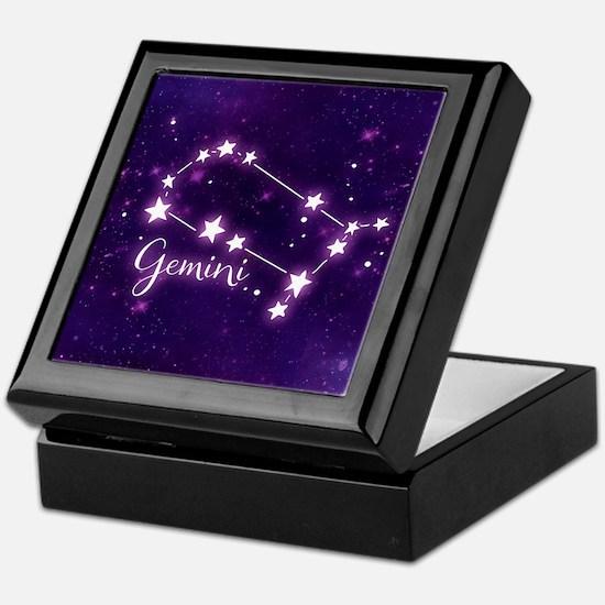 Gemini Zodiac Constellation Keepsake Box