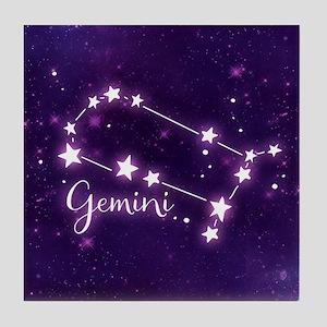 Gemini Zodiac Constellation Tile Coaster