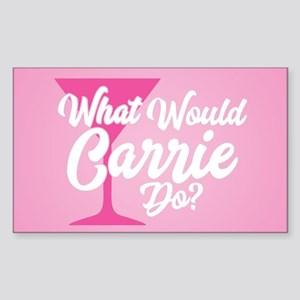 SATC WWCD Pink Sticker (Rectangle)