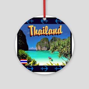 Thailand Round Ornament