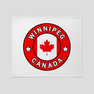 Winnipeg Canada Throw Blanket