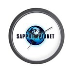 Sapphire Planet Wall Clock