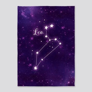 Leo Zodiac Constellation 5'x7'Area Rug