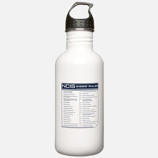 NCIS Gibbs' Rules Water Bottle