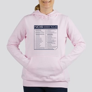 NCIS Gibbs' Rules Women's Hooded Sweatshirt