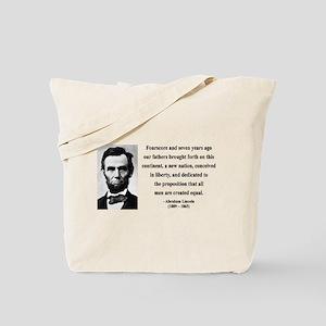 Abraham Lincoln 29 Tote Bag