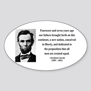 Abraham Lincoln 29 Oval Sticker