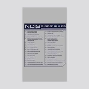 NCIS Gibbs' Rules Sticker (Rectangle)