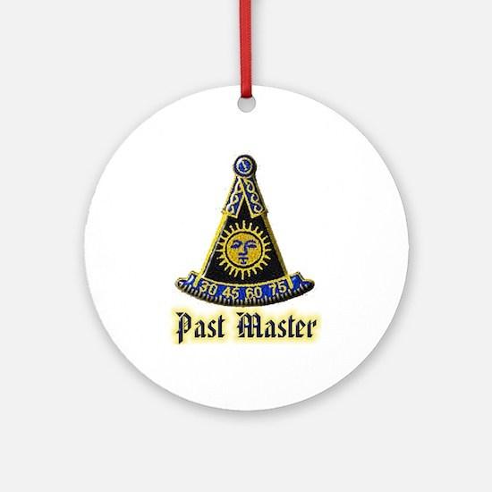 Past Master F & A M Round Ornament