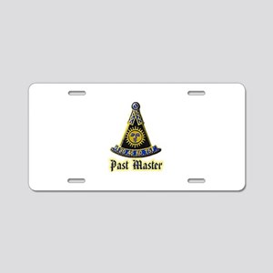 Past Master F & A M Aluminum License Plate