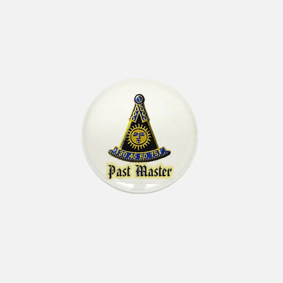 Past Master F & A M Mini Button (10 pack)