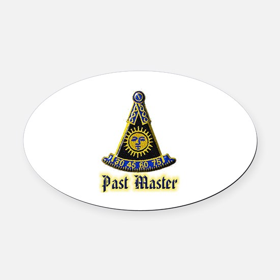 Past Master F & A M Oval Car Magnet