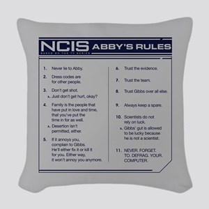 NCIS Abby's Rules Woven Throw Pillow