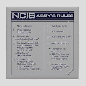 NCIS Abby's Rules Tile Coaster