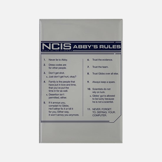 NCIS Abby's Rules Rectangle Magnet