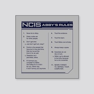 """NCIS Abby's Rules Square Sticker 3"""" x 3"""""""