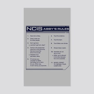 NCIS Abby's Rules Sticker (Rectangle)