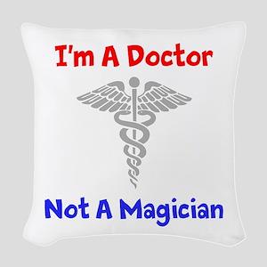 Star Trek: Im A Doctor Woven Throw Pillow