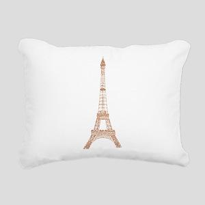 Rose Gold Paris Eiffel tower Rectangular Canvas Pi