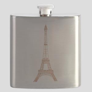 Rose Gold Paris Eiffel tower Flask