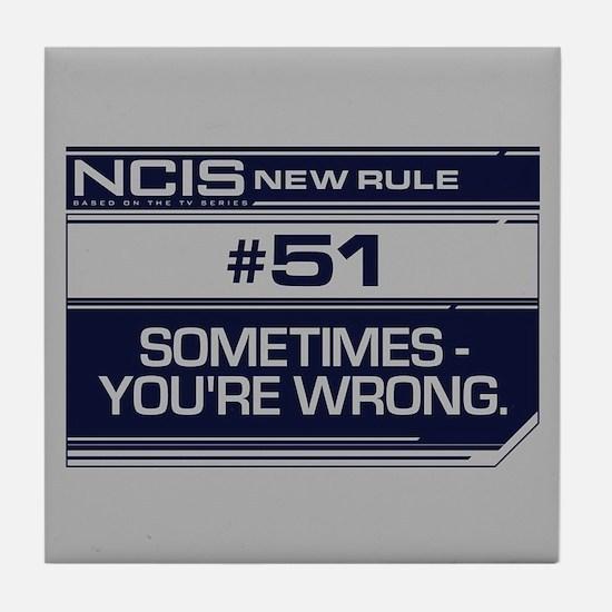 NCIS Rule #51 Tile Coaster
