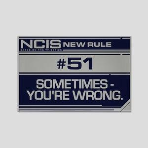 NCIS Rule #51 Rectangle Magnet