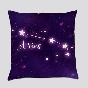 Aries Zodiac Constellation Everyday Pillow