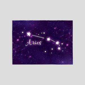 Aries Zodiac Constellation 5'x7'Area Rug