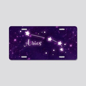 Aries Zodiac Constellation Aluminum License Plate