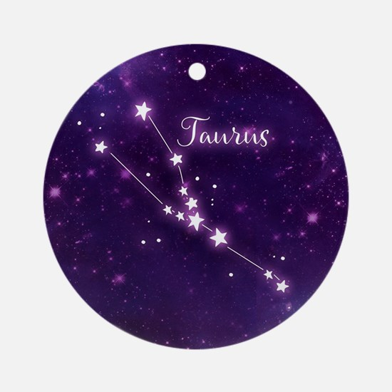 Taurus Zodiac Constellation Round Ornament