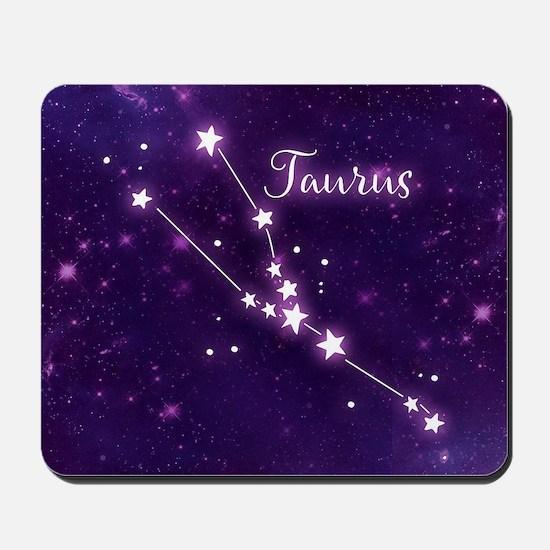 Taurus Zodiac Constellation Mousepad
